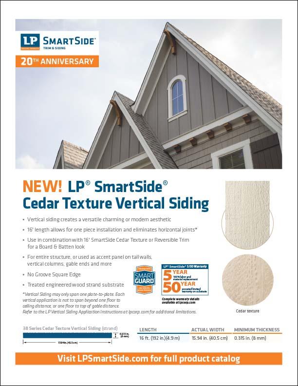 LP SmartSide Vertical Siding