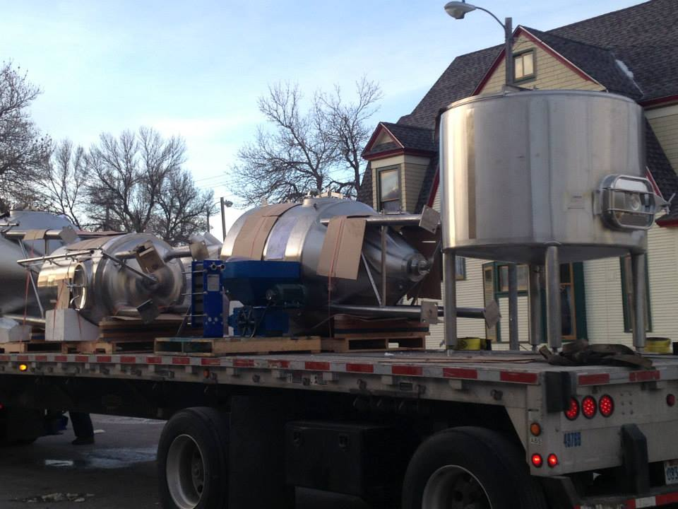 Brewing Equipment Arrives