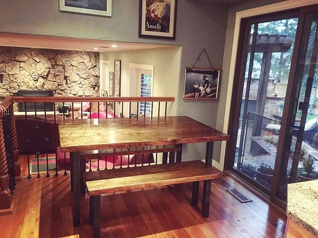 #diningtable #metalandwood #diningroomdecor #handmade #design #interiordesign #custom #reclaimedwood #reclaimed #maple #dowoodworking #distressed #oldwood #woodworking #denver #colorado #5280 #madetomake