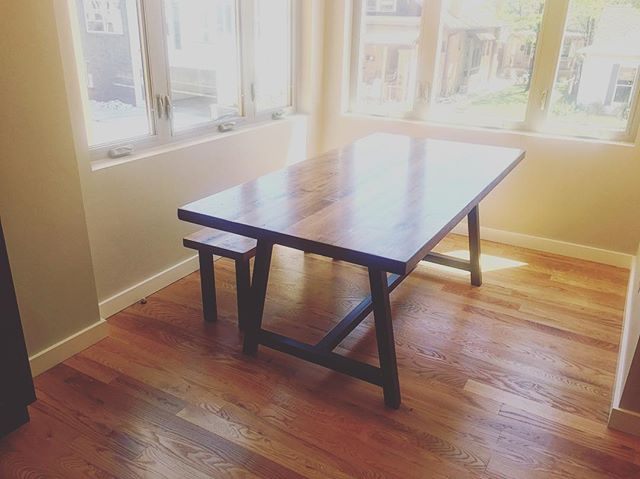 #metalandwood #diningtable #aplacetogather #diningroomdecor #handmade #design #interiordesign #custom #reclaimedwood #reclaimed #salvagedwood  #dowoodworking #distressed #oldwood #woodworking #denver #colorado #5280 #madetomake