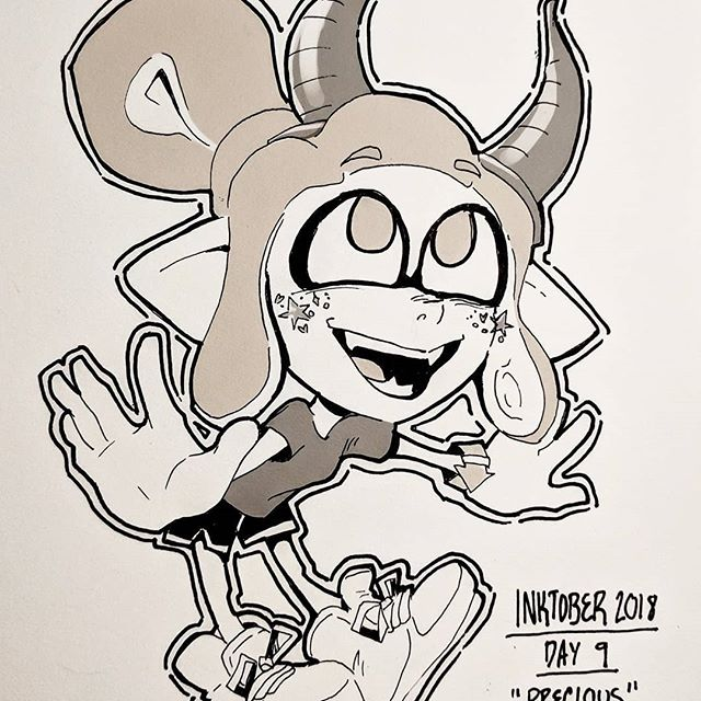 A few more #inktober squids. The #splatoween costumes are fun 🎃 . . .  #artistsoninstagram #art #drawing #doodle #sketch #nintendo #videogames #splatoon #fanart