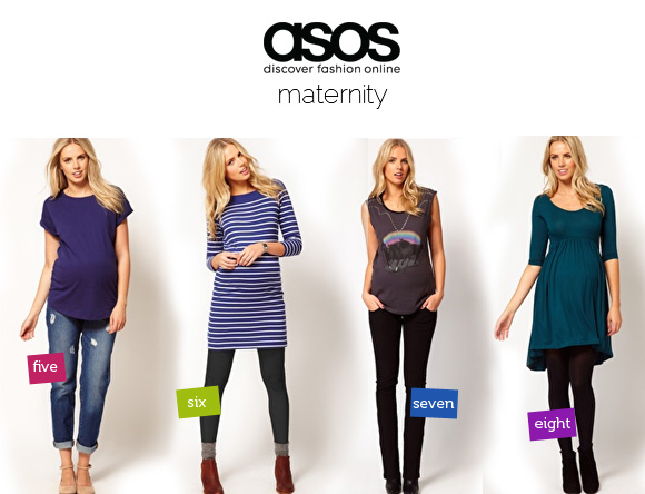 <h3>Asos US </h3> Channel your inner fashionista...looks super cute while you're super preggo.