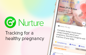 <h3>Glow Nuture </h3> Track your pregnancy and get weekly tips and facts.