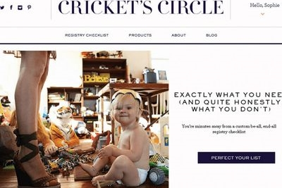 <h3>Cricket's Circle</h3> No more guessing games when it comes to baby registries. Get personalized product recommendations based on your life and style.
