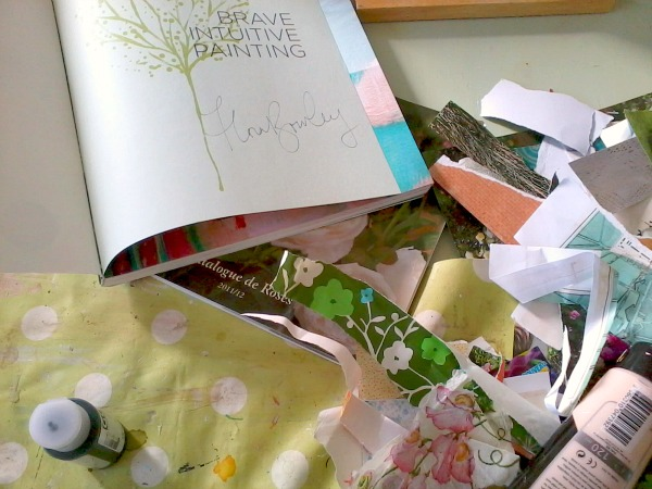 keeping Flora Bowley's book by my side while painting!