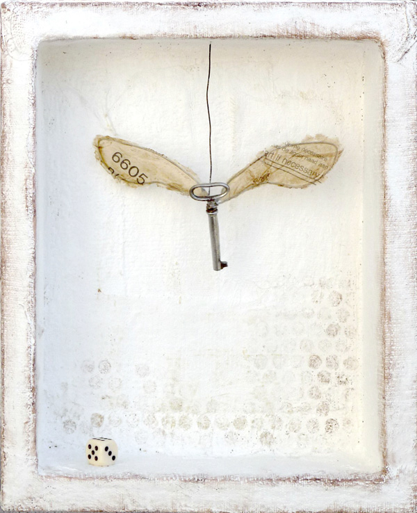 Art, if necessary : mixed media assemblage on plaster by Laly Mille