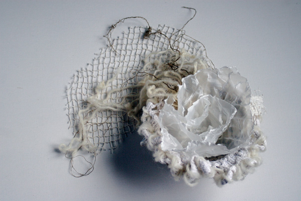 Overflow, plaster and fiber mixed media sculpture, © 2012 Laly Mille