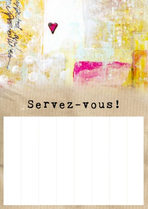 Kindness mission poster - French, blank
