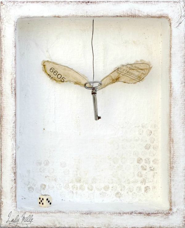Art, if necessary : mixed media assemblage by Laly Mille