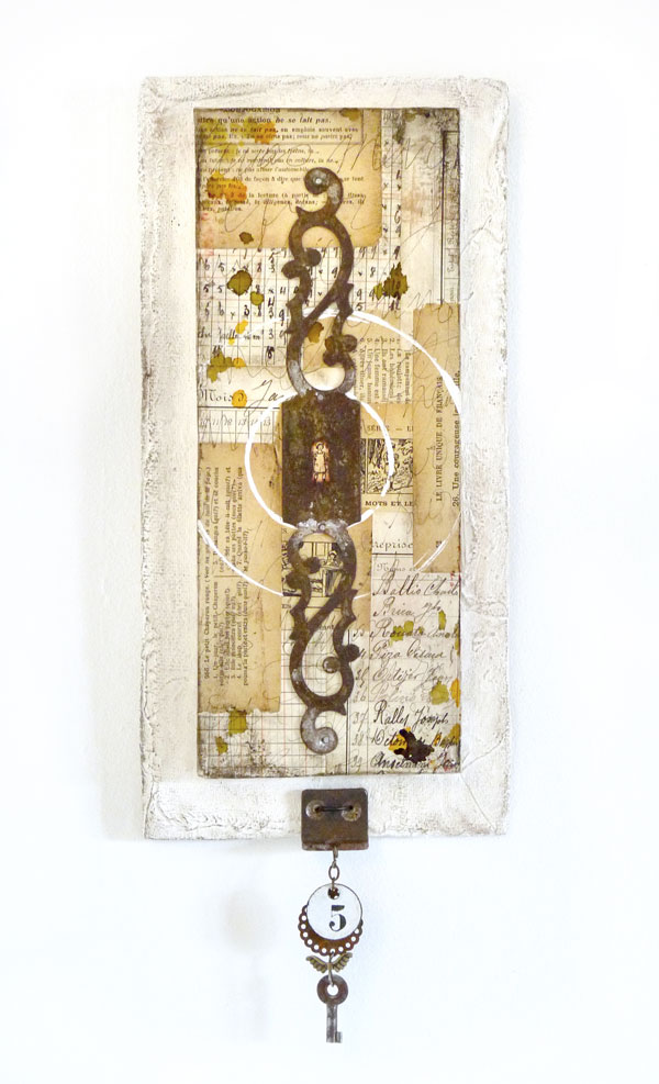 The Secret : mixed media assemblage by Laly Mille
