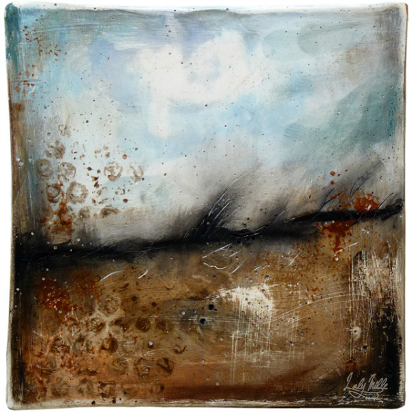 Windswept : mixed media painting by Laly Mille