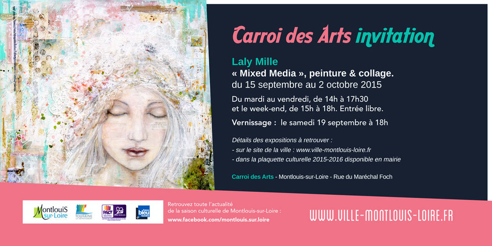 Laly Mille exhibition in Montlouis sur Loire, France, September 2015