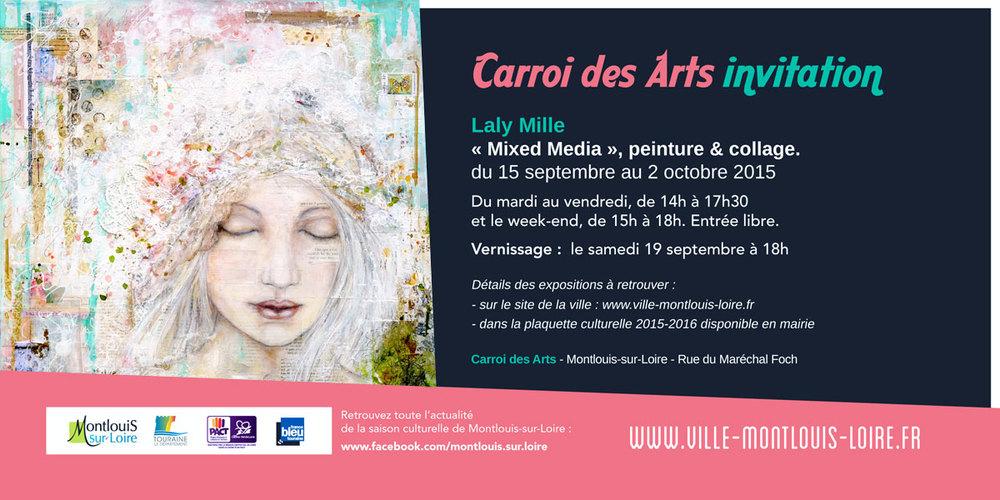 Invitation - Exposition de Laly Mille à Montlouis-sur-Loire, septembre 2015