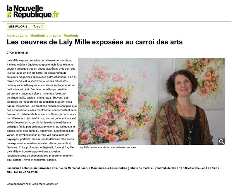 Laly Mille article Nouvelle République