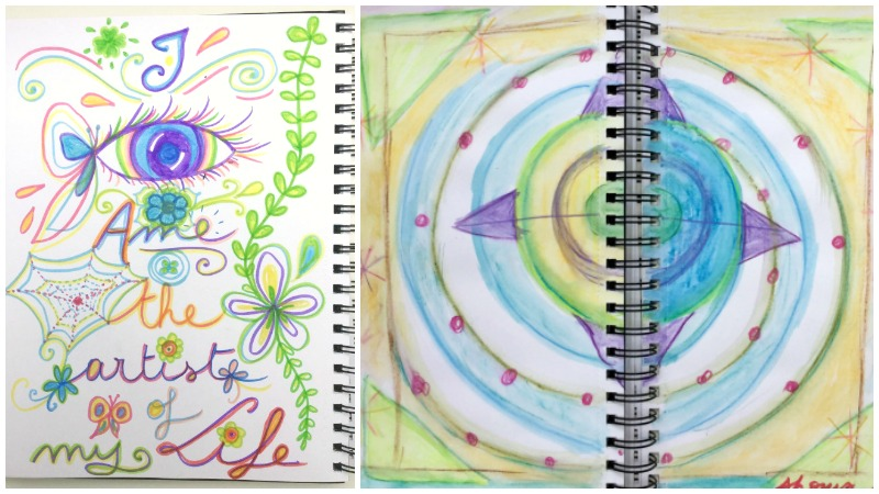 Journaling and playing with shapes