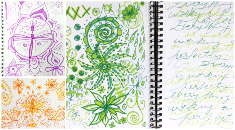 One color doodle pages