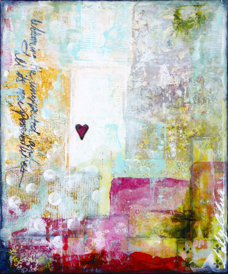 Unexpected : mixed media painting by Laly Mille