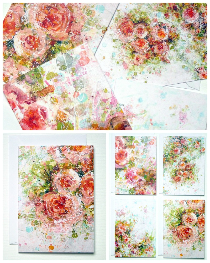 Freshly picked blooms!  Set of 4 greeting cards available HERE