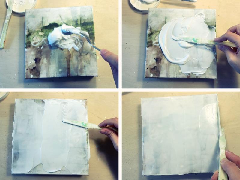 L'acrylique façon encaustique: une technique magique!