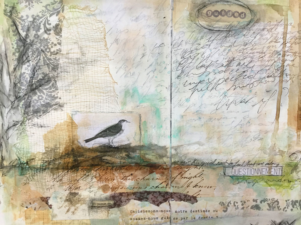 """Laly Mille - """"Book of Days"""" art journal, first page..."""