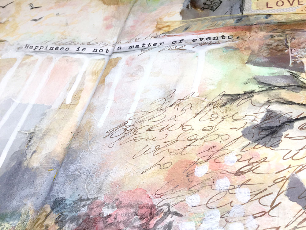 """Laly Mille Art - """"Book of Days"""" art journal page"""