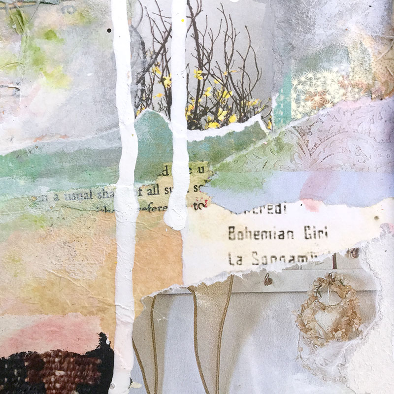 "Laly Mille Art - ""Book of Days"" art journal page"