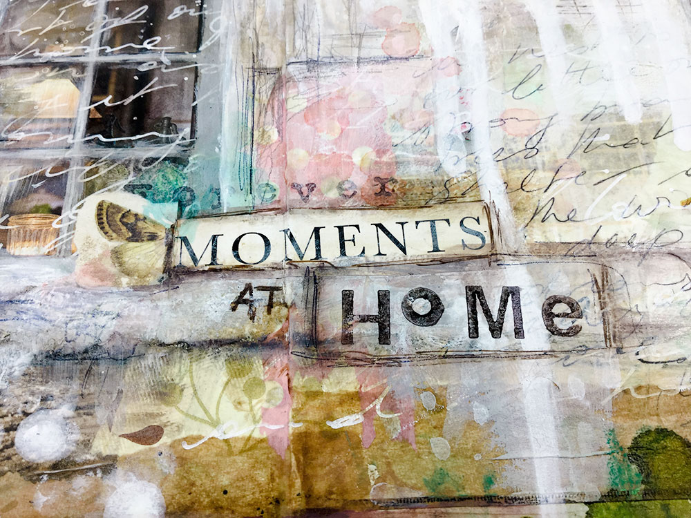 """Art Journaling with a """"word of the year"""" - Laly Mille"""