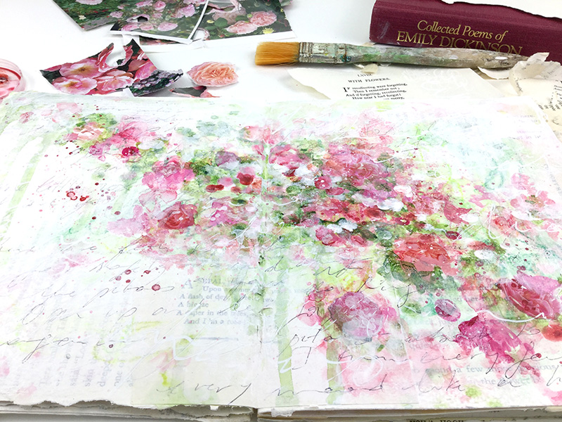 Abstract roses - Laly Mille
