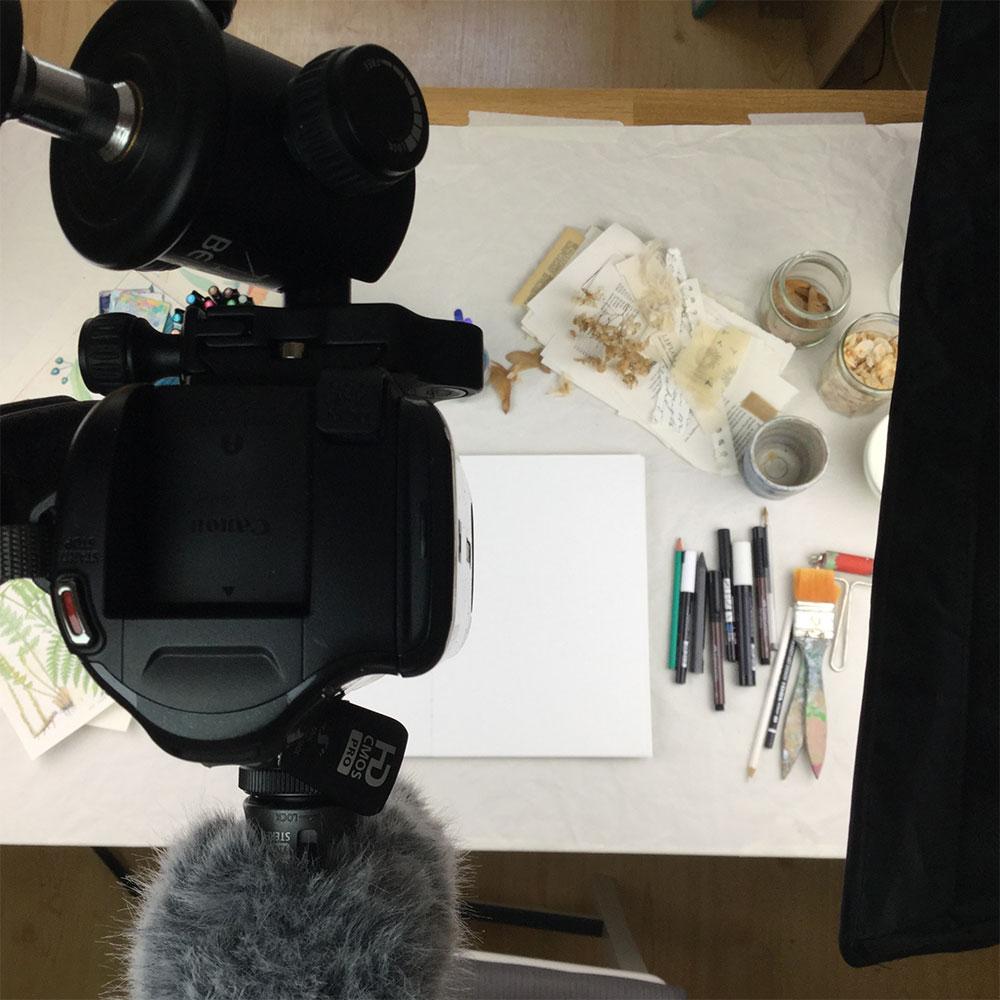 Filming setup...
