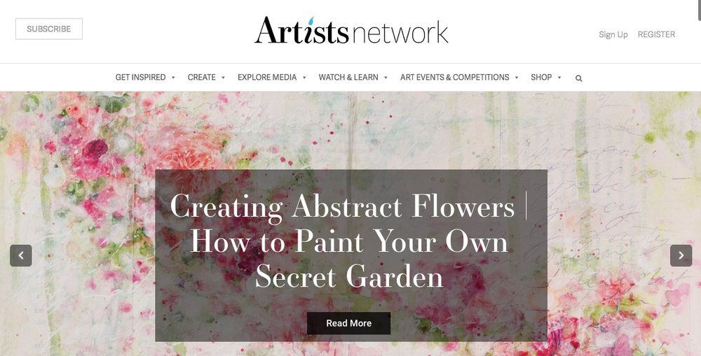 artist network home page roses Laly Mille