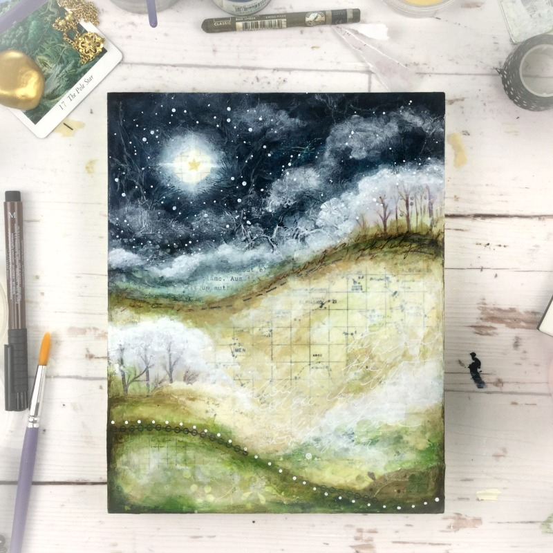True North Star - Mixed media art workshop with Laly Mille