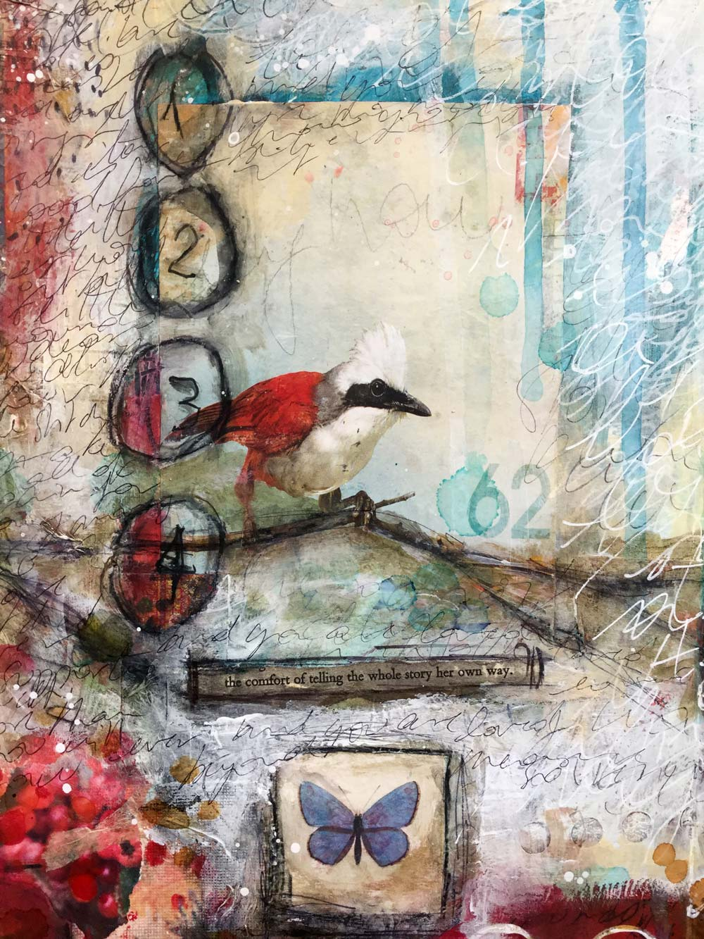 """""""The Whole Story"""" Art Journal Page - Laly Mille"""