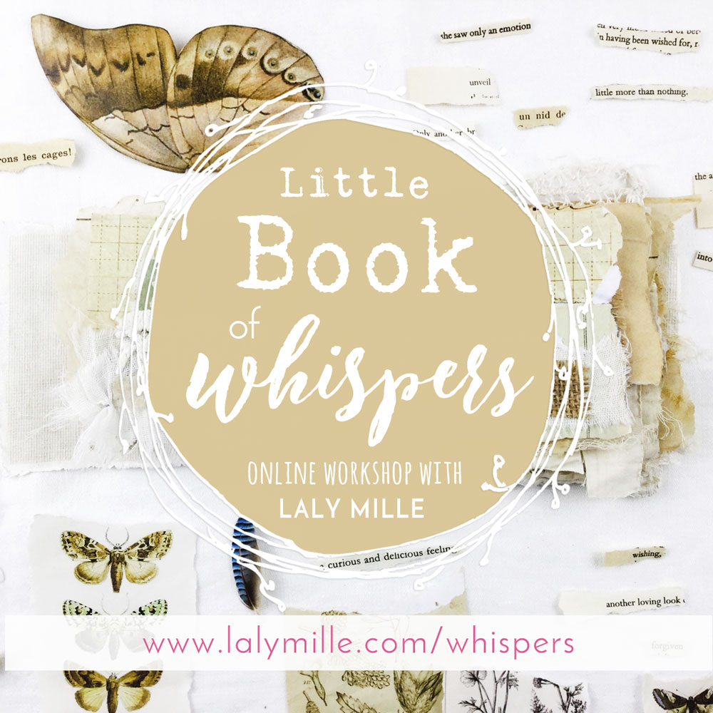 Little book of Whispers - Artist book workshop with Laly Mille