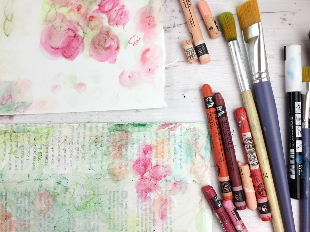 Wild Roses - Abstract Floral Mixed Media Painting Lesson with Laly Mille