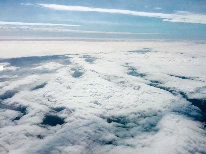 Flying above the clouds...
