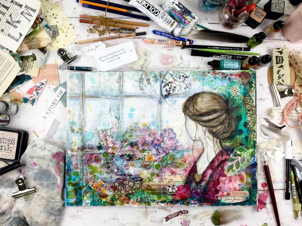 Dear Jane Austen Art Journaling Class with Laly Mille