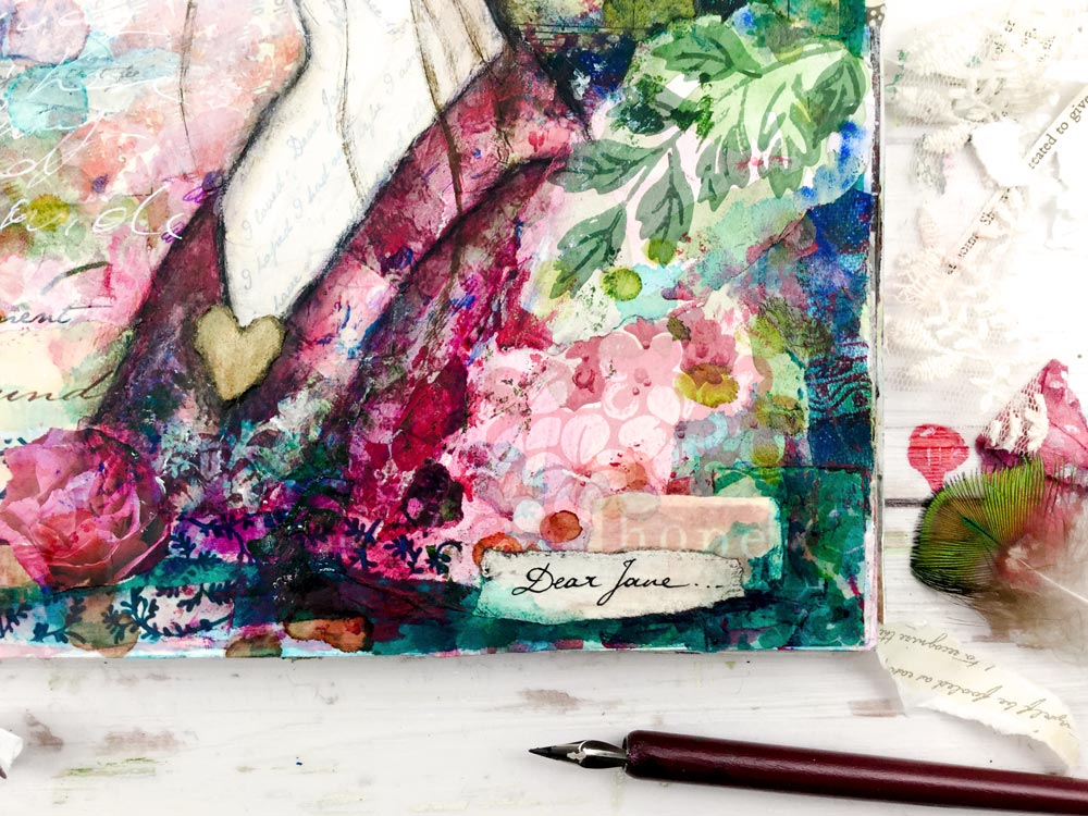 """Dear Jane"" Art Journaling with Jane Austen 