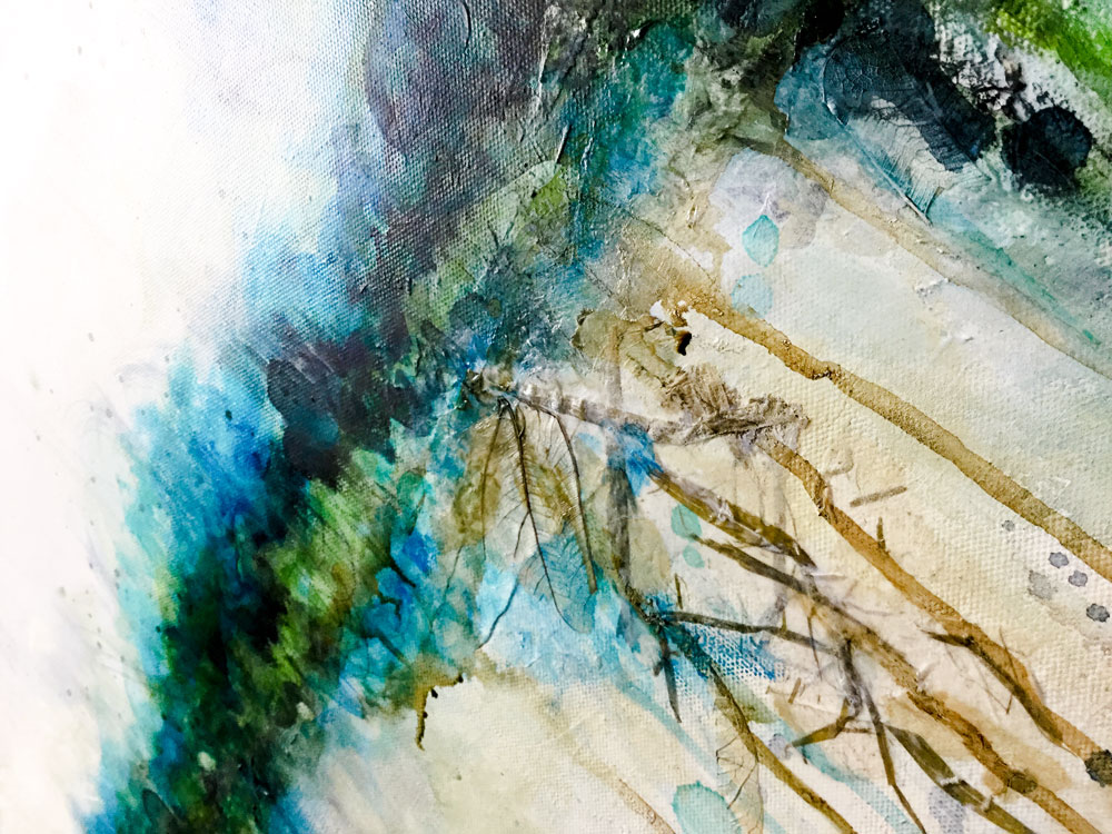 """Underlayers from """"Riverside"""" abstract landscape by Laly Mille"""