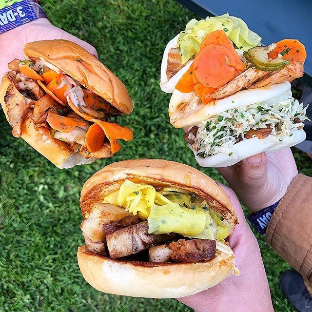 You ever had one of our #steamedbaobuns or #bakedbuns with our Miso-Glazed Pork Belly, Spicy Chicken, or Black-Pepper Brisket?  Its soooooo good...