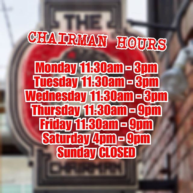 🚨ALERT🚨 . . Starting 10/22/2017 . . NEW CHAIRMAN HOURS NEW CHAIRMAN HOURS NEW CHAIRMAN HOURS . . #artsdistrict #dtlaartsdistrict #lunch #foodies #