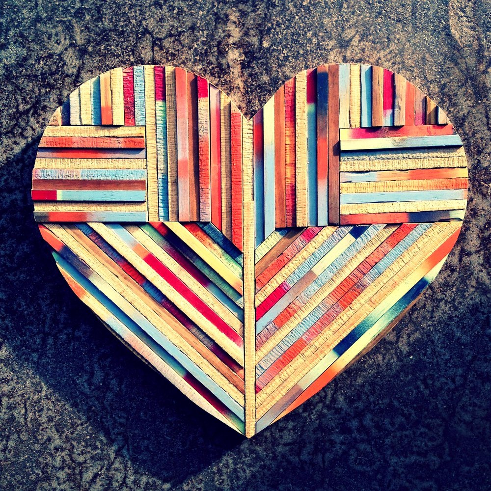 piecing my heart back together: SRCAP WOOD & SPRAY PAINT / brody hartman
