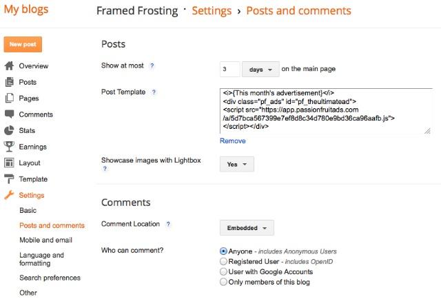 Framed Frosting Post-Template