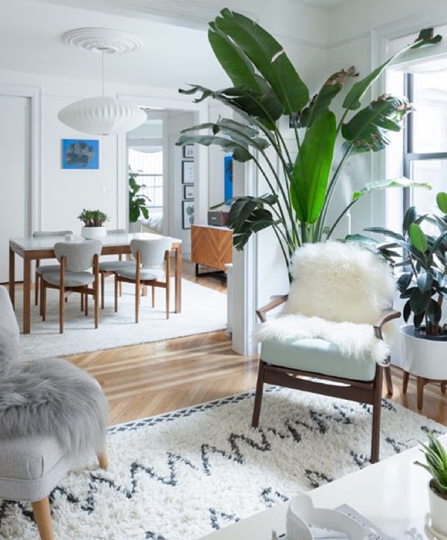 day dreaming of this living room from @westelm via @wendy_j_li i think the pf space needs this rug! more photos of this beautiful space on west elm's blog!