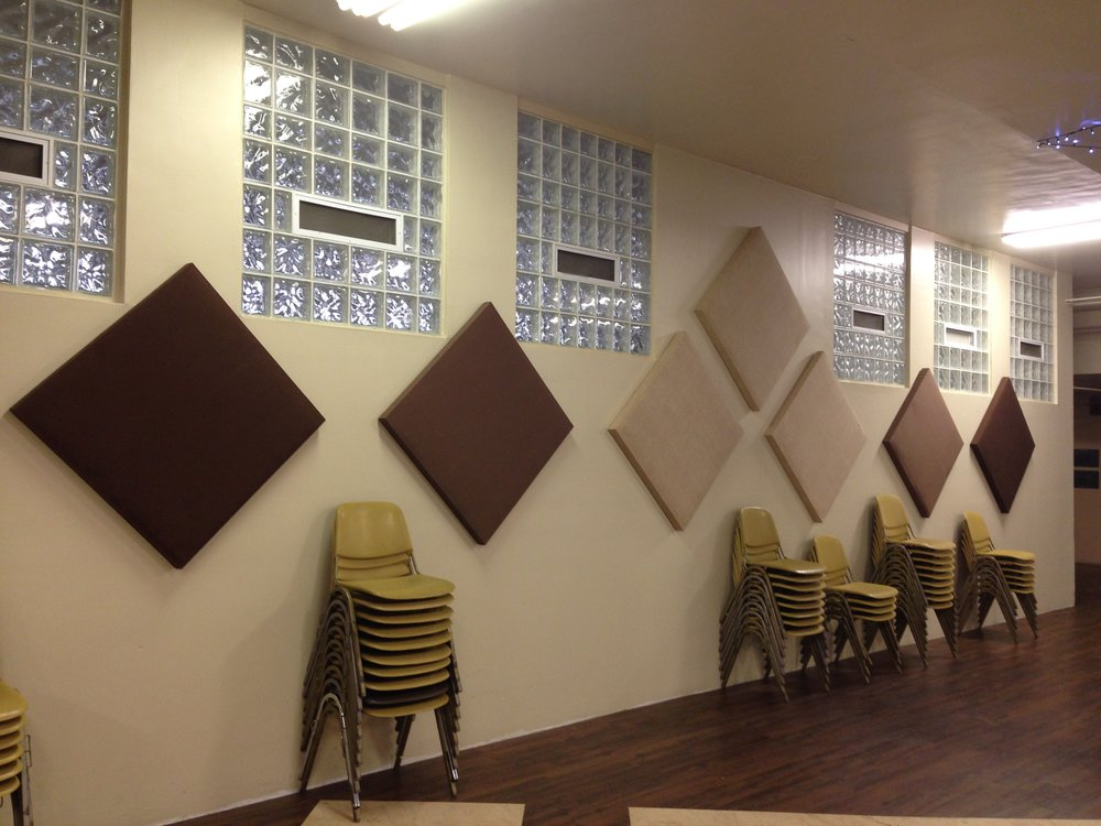 After: Sound-absorbing panels