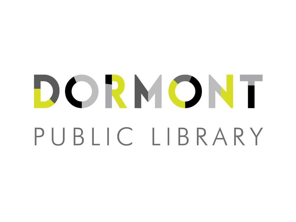 An option for a commissioned logo design for the Dormont Public Library