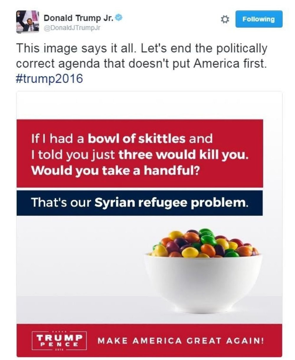 Example of anti-refugee rhetoric