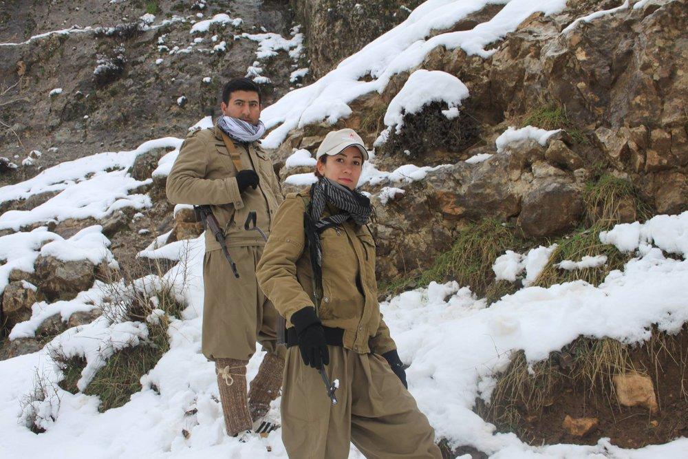 Gashin and her husband, Faryad - Jan 2015