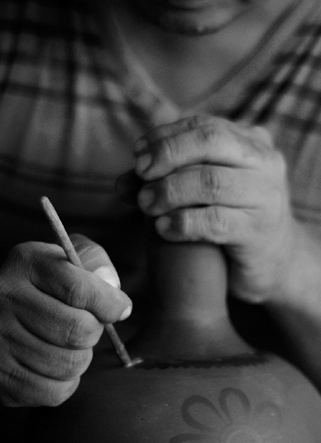 """""""Ismael Fajardo. El Rosario"""", foto por Santiago Vega (Proyecto Artesanos Barro)"""