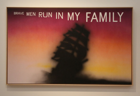 "Ed Ruscha, ""Brave Men of La Jolla"" (1995). Image credit: Happy Hotelier."