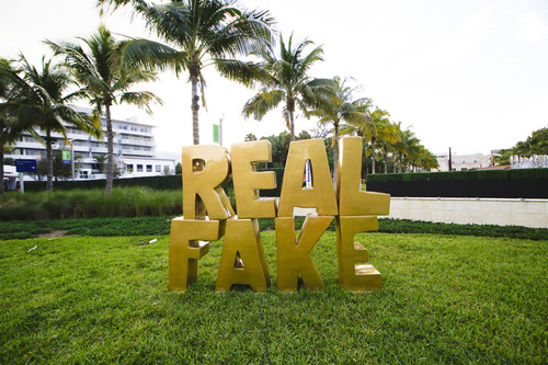 "Scott Reeder, ""Real Fake"" (2013). Image credit:  Art Basel ."